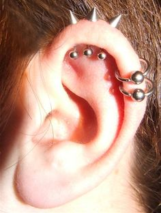 I kind of dig these studs... #studs #cartilage #piercings