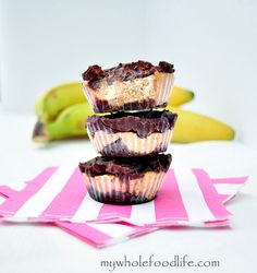 Chocolate Almond Banana Bites.  This chocolate treat is so good and made healthier.  There is no added sugar except for the small amount in the chocolate.  Vegan, gluten free and paleo.