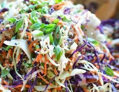Asian Slaw with Quinoa and Sesame Ginger Vinaigrette Healthy Meals For Two, Good Healthy Recipes, Healthy Cooking, Easy Meals, Cooking Recipes, Easy Cooking, Healthy Food, Asian Chopped Salad, Chopped Salads