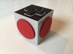I received this for Christmas, it's a really impressive speaker in a small size and a small price. I'm no audio . Audio, Cube, Articles, Retro, Neo Traditional, Rustic, Retro Illustration, Mid Century