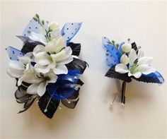 Black& Champagne Corsage & Boutonniere Set Wedding or Prom ...