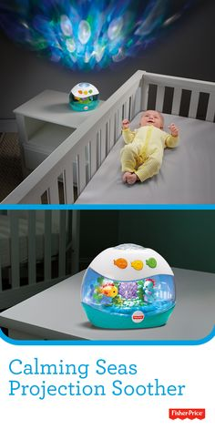 The Fisher-Price Calming Seas Projection Soother gives newborns-to-toddlers a comforting light show plus up to 60 minutes of soothing music, white noise or gentle nature sounds.