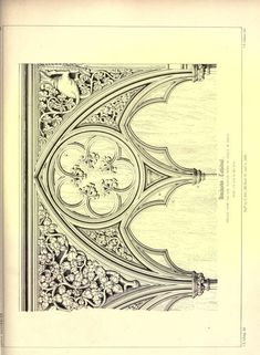 Architectural Drawing Patterns James Kellaway Colling, Plates from Colling's Gothic Ornament - Gothic Architectural ornaments Architecture Drawings, Gothic Architecture, Historical Architecture, Architecture Details, Black And White Building, Gothic Elements, Wood Carving Designs, Gothic House, Christmas Illustration