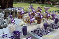 Purple Candy Buffet by gracious favors candy & dessert buffet, via Flickr