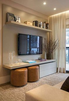 80 Good Small Living Room Decor for Apartment Ideas livingroom livingroomdecor apartmentideas Small Living Rooms, Living Room Grey, Living Room Modern, Interior Design Living Room, Home And Living, Small Living Room Ideas With Tv, Small Living Room Designs, Small Loving Room Ideas, Tv Room Small