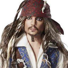 2011- Barbie Piratas Do Caribe Ken Jack Sparrow com Johnny Depp: