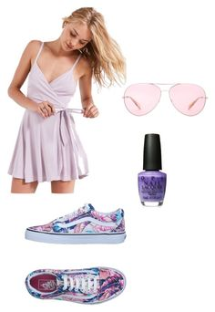 """""""Subtle bright"""" by hollyhunt-dream on Polyvore featuring Vans, Kimchi Blue and Oliver Peoples"""