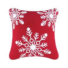 C & F Enterprises Snowflakes Rice Stitch Throw Pillow & Reviews | Wayfair