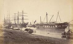Hooghly hit hugely: Effects of a cyclone on the river bank in Calcutta, 1867.