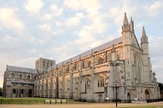 Winchester Cathedral in Hampshire England. Jane Austin is buried here with at least two markers. There may be three? But one is on the floor with a beautiful inscription written by her brothers.