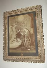 Rare Religious Framed Print The Annunciation Berlin Photographic Co. Framed Prints, Art Prints, Beautiful Wall, Berlin, Objects, Wall Decor, Home Decor, Art Impressions, Wall Hanging Decor