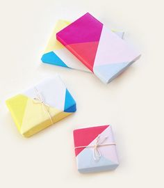 Colorblock Wrapping Paper Printables