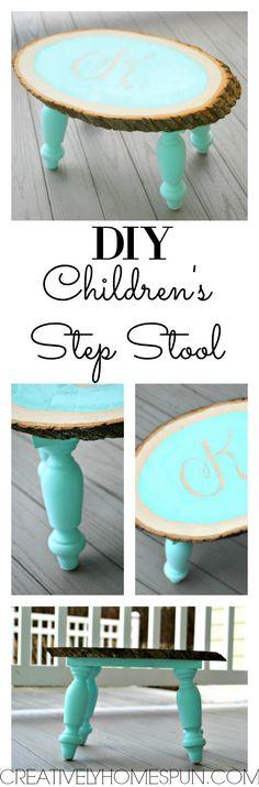 DIY Children's Step Stool #Createandsharechallenge #DIYdecor #walnuthollow