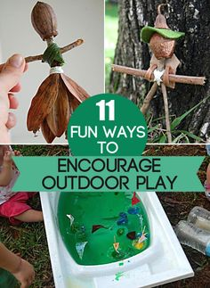 11 Fun Ways to Play Outdoors...simple ideas to get creative play happening!