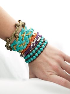 How to make leather wrap bracelets....