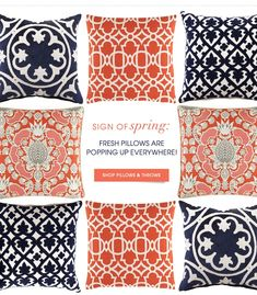 . Love, Navy and Coral! | interiors-designed.com