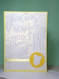 Baby Shower Thank You Note Card Set Handmade