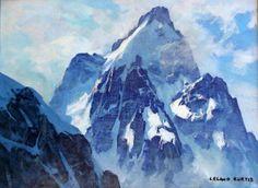 Teton Mountains, Moose Wyoming painted by Leland Curtis,