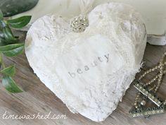 TIMEWASHED: Easy Plaster Heart DIY