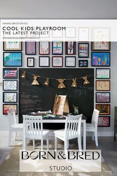 The latest project from Born & Bred Studio, London. Inspiration Wall, Interior Design Inspiration, Making Space, Kids Room Design, Interior Design Companies, Happenings, Beautiful Children, Playroom, Art For Kids