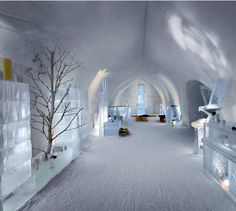 Ice Hotel - Located in Finland. It is a truly unique experience visiting this beautiful snow hotel. Ice hotel is not only the only hotel which are said to be Ice Hotel but also a surrounding village is known to be snow village. Igloo Village, Village Hotel, Quebec, Hotels And Resorts, Best Hotels, Amazing Hotels, Unique Hotels, Places To Travel, Places To Go