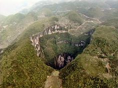 The deepest known sinkhole in the world. Description from pinterest.com. I searched for this on bing.com/images