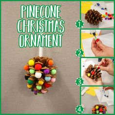 Pinecone Christmas Ornament | Holiday Kids Crafts from Silver Dolphin Books