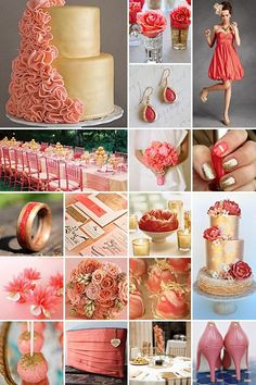 Coral and Gold - an unexpected but gorgeous combination!