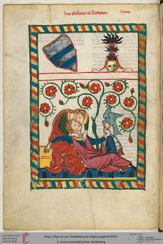 Cod. Pal. germ. 848 Große Heidelberger Liederhandschrift (Codex Manesse) Zürich, ca. 1300 bis ca. 1340 Page: 249v. Herr Konrad von Altstetten