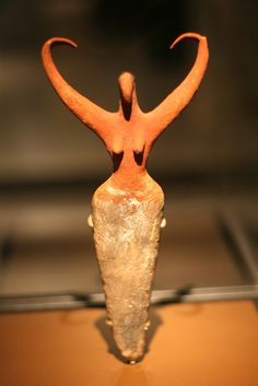 Female Figure from Predynastic Egypt, ca. 3500-3400 BCE. Painted Terracotta. Located in the Brooklyn Museum. Photo by ego technique., via Flickr.