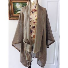 """The """"Claudette"""" Coat Duster. Lagenlook Art to Wear Victorian Country 