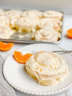Cream Cheese Glaze, Whipped Cream Cheese, Orange Sweet Rolls, Sweet Roll Recipe, Orange Frosting, Freshly Squeezed Orange Juice, Bread And Pastries, Breakfast Dessert, Stick Of Butter