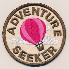 Show off your adventurous achievement with this sassy merit badge! This design stitches up as a freestanding in-the-hoop patch, perfect for both adults and kids.