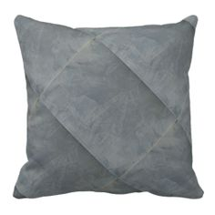 Slate Venetian Plaster Throw Pillows #home#homedecor#fauxfinishes
