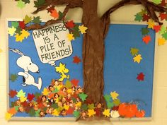 Happiness is a Pile of Friends bulletin board.  Too cute!