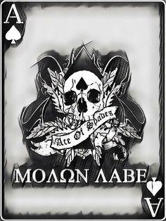 #molon #labe #molonlabe #ace #of #spades #aceofspades Fortes Fortuna Adiuvat, Molon Labe, Ace Of Spades, Amazing Art, Awesome, Military Humor, Care Bears, Fantasy Artwork, Marine Corps