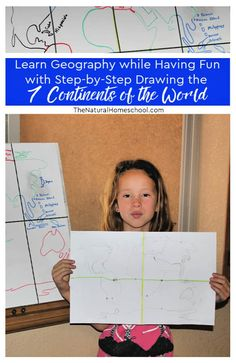 Did you know that your kids can draw the 7 continents freehand? The books that I am going to share with you are amazing! Learn geography while having fun!