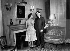 Viscount Spencer and the Hon Frances Roche.  He did not become the Earl until his father died in 1975.