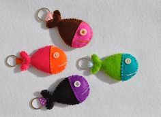 Felt keychains in the sea!