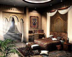 Восточные мотивы в дизайне интерьера: Арабский стиль - b