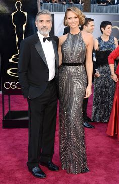 LOVE her dress. Clooney isn't so bad, either.