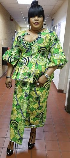 FROM DRC African Wear, African Dress, Ankara Dress, Kitenge, African Fashion Dresses, Ankara Styles, Couture, Elegant, My Style