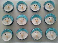 Winter cupcakes voor tractatie voor Britt op school