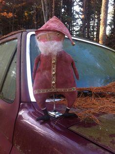 Gorgeous Primitive Santa Claus Doll Handcrafted #NaivePrimitive