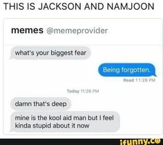 Jackson and Namjoon are probably like