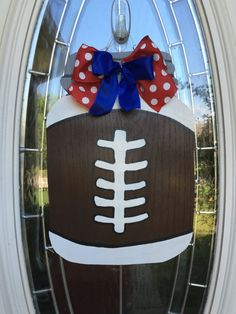 Football Door Hanger Sports Door Hanger by Christyscornerx3 #penguinluv