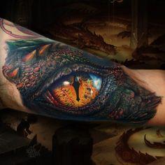 Nice smaug eye tattoo