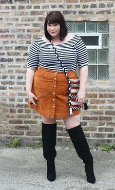 8f1c667041b Plus Size Blogger Amber from Style Plus Curves wearing a plus size suede  skirt from Simply · Thick Girl FashionFat ...