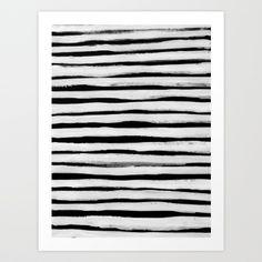 Black and White Stripes II Art Print by Georgiana Paraschiv   Society6