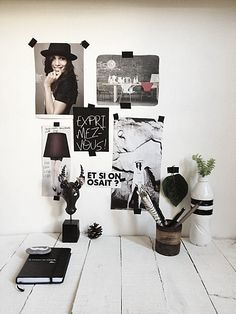 i want random assorted stuff on the wall! some quotes some inspiring somethings © Méchant Design
